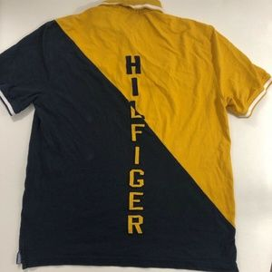 Tommy Hilfiger Color Block Rugby Spell Out Polo